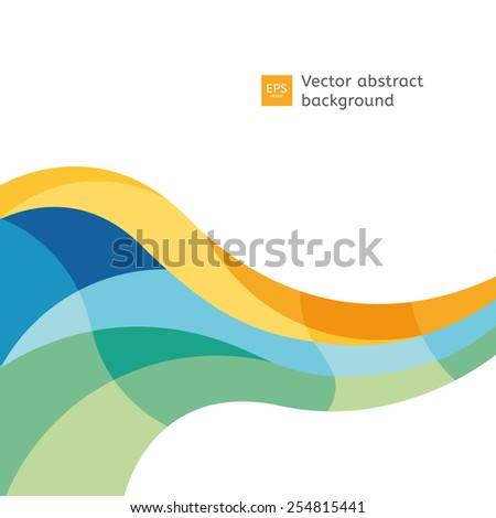 Vector colorfully flow. Blank template with place for your text. - stock vector