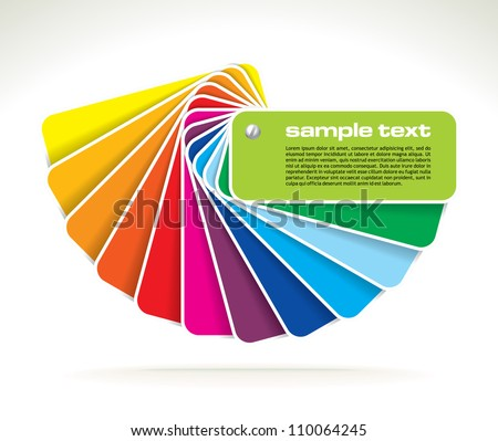 vector colour guide - stock vector