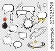 Vector comic speech bubbles set - stock