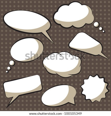 Vector comics speech bubbles - stock vector