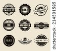 vector commercial stamps set in vintage style for business and design - stock vector