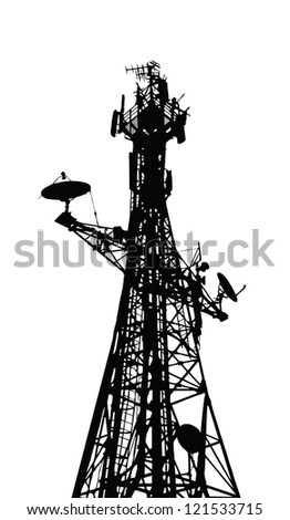 Vector communication antenna - stock vector