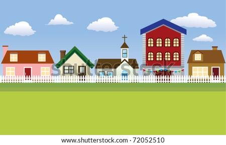 Vector Community Illustration - stock vector