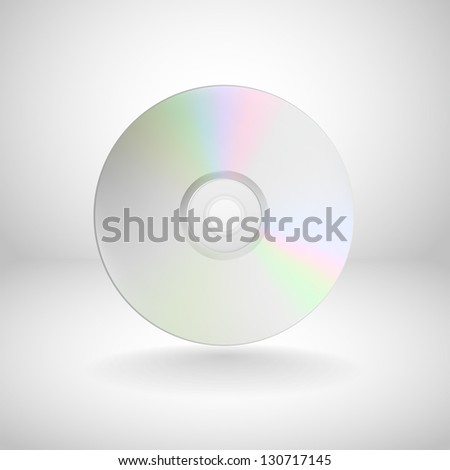 vector compact disc isolated - stock vector