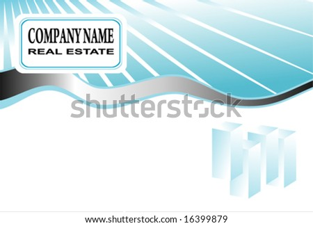 Vector company business card
