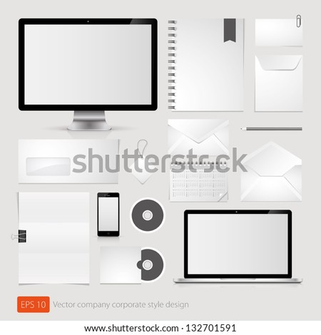 Vector company corporate style template - stock vector