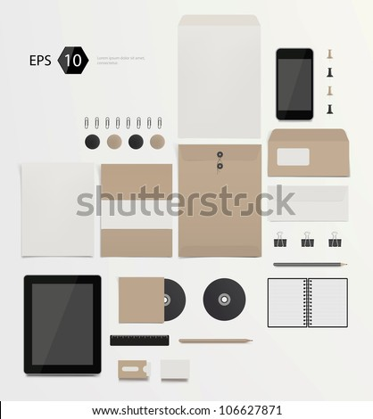 Vector company corporate style template design eps10 - stock vector