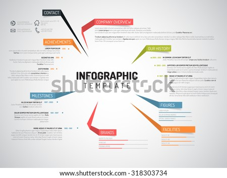 Vector Company Infographic Overview Design Template Stock Vector ...