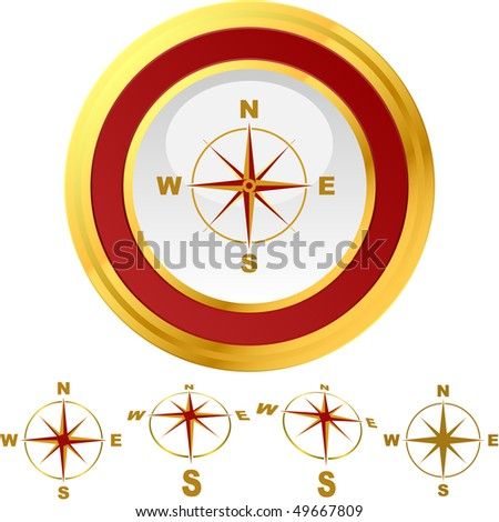 Vector compass. Graphic element set. - stock vector