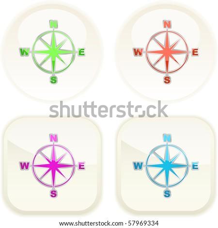 Vector compass. Graphic elements set. - stock vector