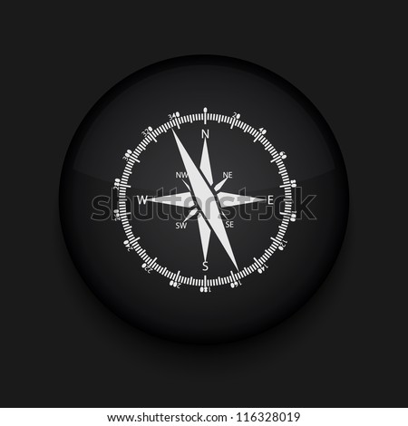 Vector compass icon. Eps10. Easy to edit - stock vector