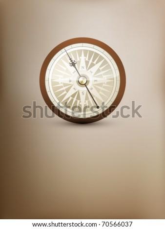 vector compass illustration - stock vector