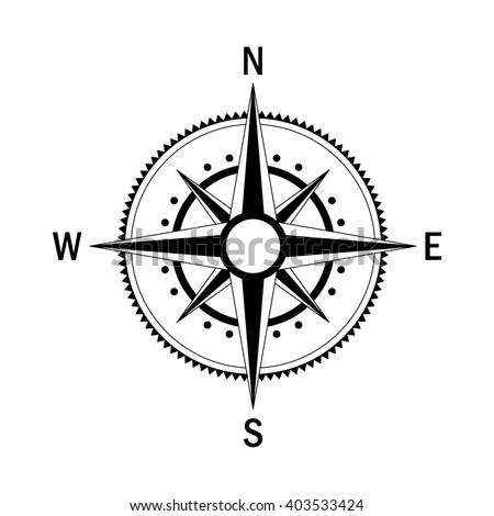 vector compass vector geo mark wind stock vector 403533424