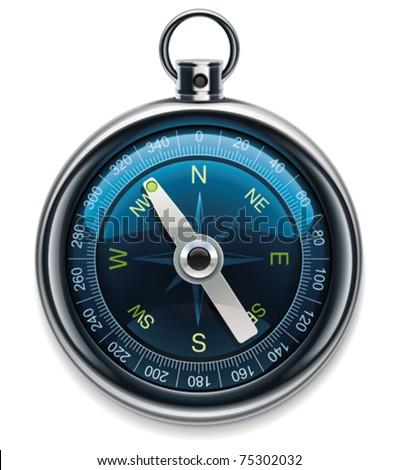 Vector compass XXL detailed icon - stock vector