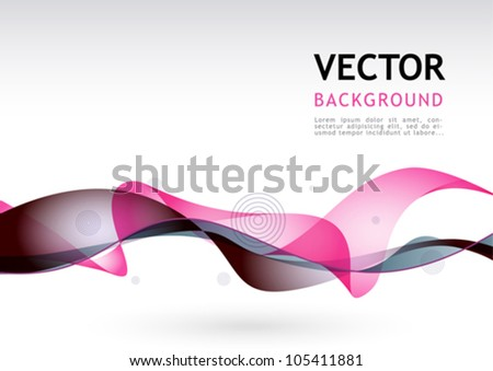 Vector composition with lines - stock vector