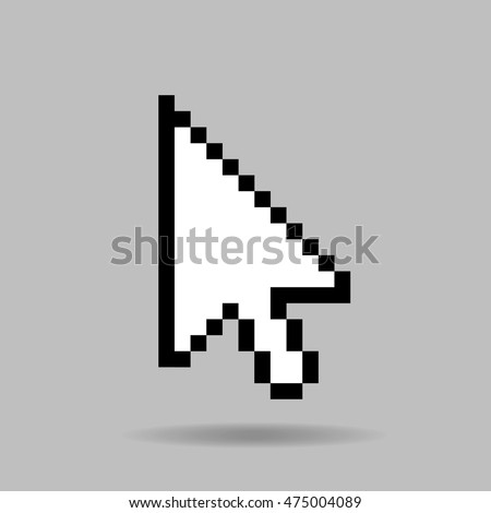vector computer cursor on a gray background
