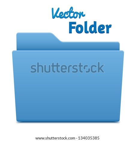 vector computer folder isolated