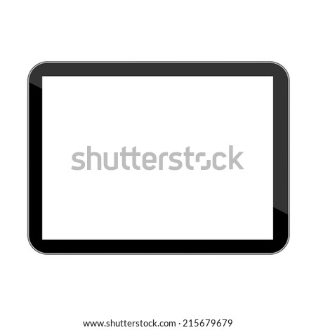 Vector computer tablet - stock vector
