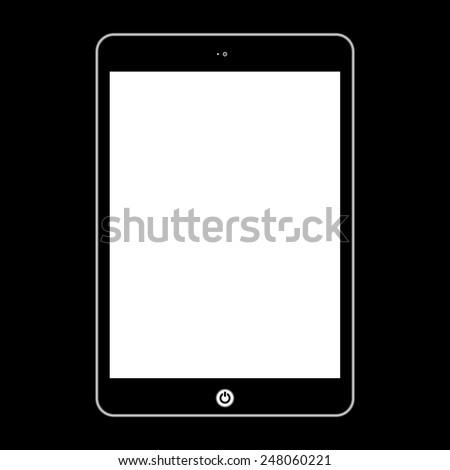Vector computer tablet.  Illustration Similar To iPad - stock vector