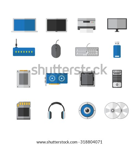vector computer technology device flat icon