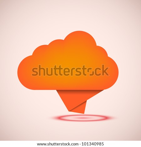 Vector concept computer cloud with bubble speech. Eps10 - stock vector