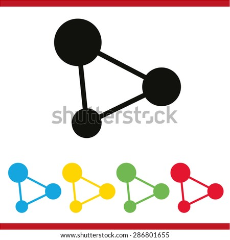 Vector concept network icon - stock vector