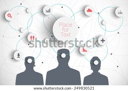 Vector concept of brainstorm with  icons. Eps10 vector for your design - stock vector