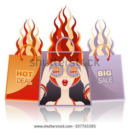 Vector concept of clearance sale or special offer - stock vector
