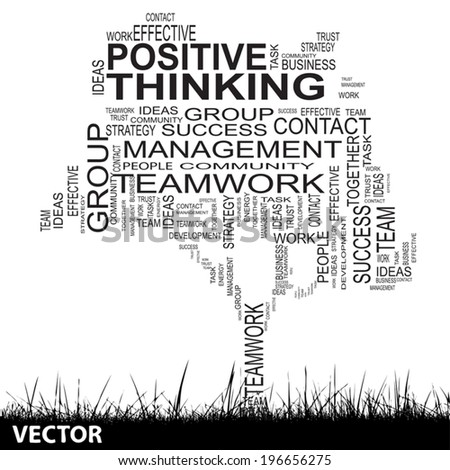 Vector concept or conceptual black text word cloud isolated on grass white background, metaphor for business, team, teamwork, management, effective, success, communication, company, group or symbol - stock vector