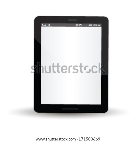 Vector concept tablet .