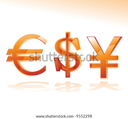vector concept with currency symbols