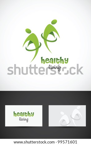 Vector conceptual icon such logo for healthy living