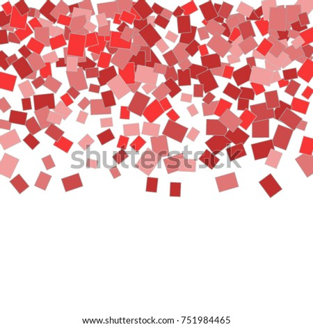 Vector Confetti Background Pattern. Element of design. Colored rectangles on a white background