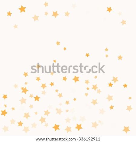 Vector Confetti Star Background Pattern - stock vector