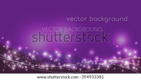 Vector constellation flow in space. Stock background of star wave for design - stock vector