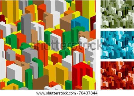 Vector construction seamless background set. - stock vector