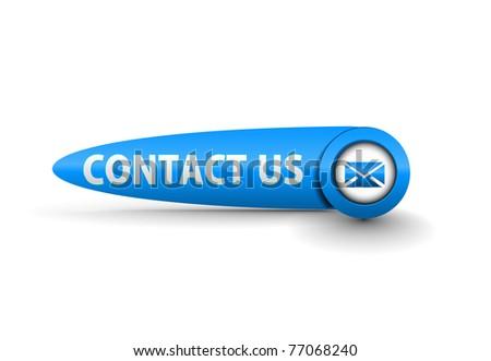 vector contact button web design element. - stock vector