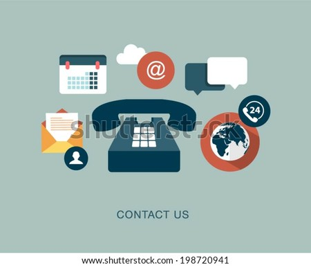 vector contact us concept illustration - stock vector