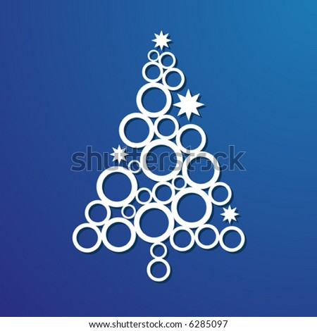 Vector Contemporary Christmas Tree - stock vector