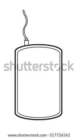 Vector contour icon design of hard disk storage. - stock vector