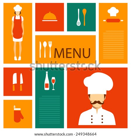 Restaurant Kitchen Illustration vector cooking background cook icons kitchen stock vector
