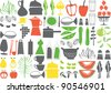 vector - cooking elements - stock photo