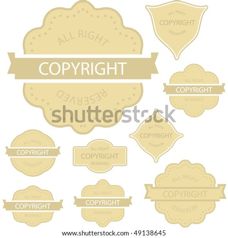 Vector copyright label for sale.