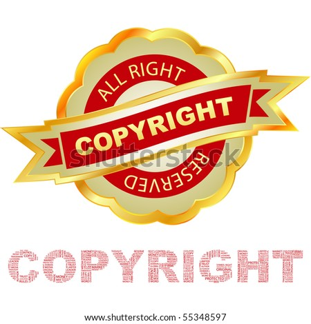 Vector copyright label for sale. - stock vector