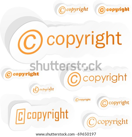 Vector copyright sticker for sale. - stock vector
