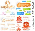 Vector copyright sticker set for sale. - stock vector