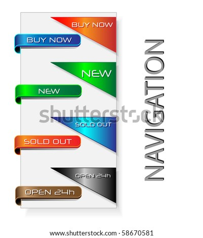 Vector corner ribbons. - stock vector