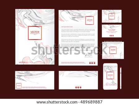 Vector corporate identity luxury marble style stock vector vector corporate identity luxury marble style templates letterhead envelope business cardsmart reheart Choice Image