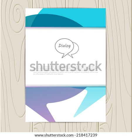Vector corporate identity template with dialog elements. Eps10 - stock vector