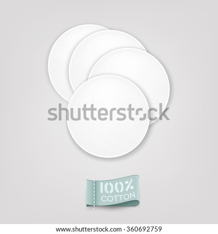 Vector cotton pads - stock vector